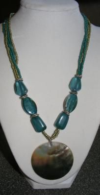 Gorgeous Abalone Shell Beaded necklace