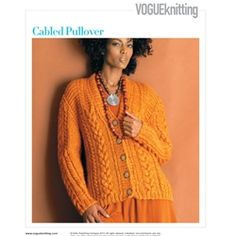 CABLED CARDIGAN Vogue Knitting Fall 2005 #10