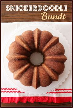 Lick The Bowl Good: Snickerdoodle Bundt Cake  http://www.lickthebowlgood.blogspot.com