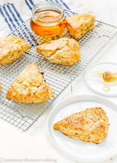 Simple and quick to prepare, these Honey Bacon Cheddar Scones are full of delicious flavors. This easy recipe is perfect for a quick breakfast, or for kids' lunchboxes. So, skip the old, boring sandwiches and surprise them with these delicious savory scones. They are also eggless! AD @nationalhoney  http://mommyshomecooking.com