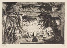Dugout. Der Krieg #45 by Otto Dix.