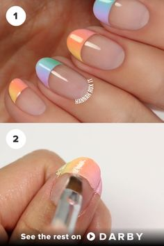 Nail Design Video Tutorial Pastel Ombre #BeautyTutorial #NailDiy #NailTutorial #NailPolish #OPI #NailArt #beauty