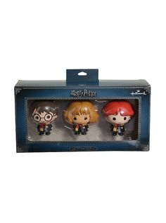Harry Potter Chibi Ron Harry & Hermione Ornament Set,