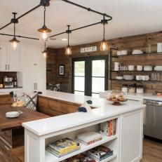 Joanna gaines kitchen featured image of country chic kitchen redesigns from joanna gaines kitchen table decor . Country Chic Kitchen, Country Kitchen Lighting, Shabby Chic Kitchen, Dining Room Lighting, Home Decor Kitchen, New Kitchen, Kitchen Ideas, Kitchen Designs, Dining Rooms