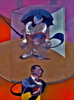FRANCIS BACON Seated Figure, 1978 Oil and sand on canvas 78 x 58 inches 198 × 147.5 cm Private collection, courtesy Richard Nagy Ltd, London Painted in Paris. This is a unique and enigmatic coupling. George Dyer is located (squatting, or sitting, on a stool or chair) off the platform where there is a figure wearing cricket protectors, in the shade of an umbrella. The reappearance of Dyer and the combination of two figures refers to Painting 1978.