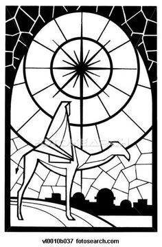 Clip Art of Nativity star stained glass window vl0010b037 - Search Clipart, Illustration Posters, Drawings, and EPS Vector Graphics Images - vl0010b037.jpg