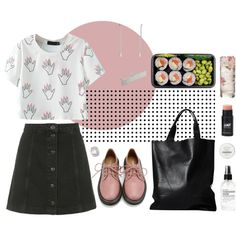 A fashion look from May 2015 featuring Topshop skirts, Retrò oxfords and London Edit tote bags. Browse and shop related looks.