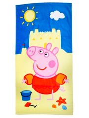 We love this Peppa Pig beach towel with bright colours - it's super soft, too!