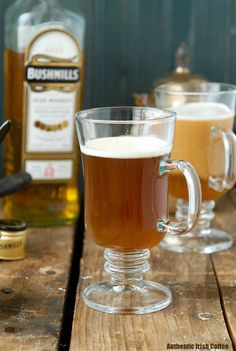 Authentic Irish Coffee recipe. Steaming hot sweetened coffee, Irish Whiskey and a cream float. Great after a big meal or to drink Irish without the Guinness! - BoulderLocavore.com