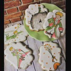 cookies do pequeno Príncipe #inlove The Little Prince Theme, Little Prince Party, Galletas Cookies, Cute Cookies, Prince Cake, Princess Cookies, Bijoux Art Deco, Baby Shower, Candy Apples