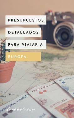 ¿Querés viajar a Europa pero no sabés cuánto puede costarte? Hacé clic acá para encontrar nuestros presupuestos detallados para viajar a Europa! Incluye un desglose punto por punto de todos los gastos para viajar a Europa #viajes #presupuesto #europa #gastos #viajar Solo Travel, Travel Tips, Travel Blog, Travel Hacks, Travel Scrapbook, Adventure Awaits, Trip Advisor, Travel Advisor, Boarding Pass