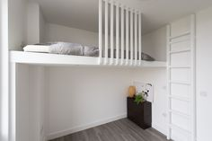 Home Design Inspiration Living Room Small Spaces Mezzanine 53 Ideas Loft Bed Storage, Bedroom Storage, Loft Beds, Bunk Bed, Home Office Design, Home Interior Design, Cafe Interior, Interior Doors, Small Living Rooms