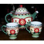 2001 Christmas teapot & mugs