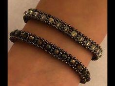 Bracelet Making with Nazo Technique Beaded Bracelets Tutorial, Beaded Bracelet Patterns, Woven Bracelets, Seed Bead Bracelets, Jewelry Bracelets, Bead Patterns, Necklaces, Bead Jewellery, Beaded Jewelry