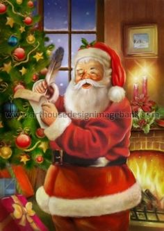 Santa Claus images for licensing. Christmas images for publishing