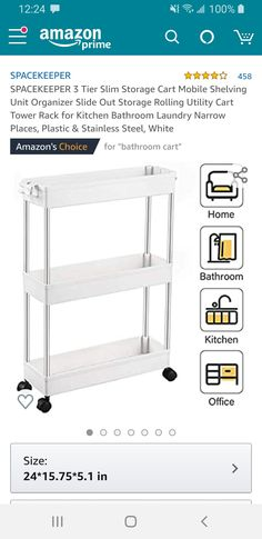 Bathroom Cart, Laundry In Bathroom, Mobile Shelving, Rolling Utility Cart, Storage Cart, Kitchen Office, Dorm Room, Room Inspiration, Home Decor