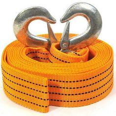 Car emergency trailer rope neon trailer belt traction rope 3 5 meters car $8.08