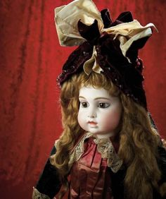Many Wonderful Things : 32 Bisque Brown-Eyed Early Period Bebe by Leon Casimir Bru,in Rare Exhibition Size