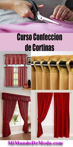 Aumente Sua Renda Com Este Curso de Corte e Costura! Increase Your Income With This Sewing Course! Cute Curtains, Tab Curtains, Thermal Curtains, Lined Curtains, Sewing Curtains, Sewing Hacks, Sewing Projects, Diy Projects, Stretch Chair Covers