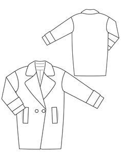Пальто коротке двобортне О-силуету: купити викрійки, пошиття і моделі | Burdastyle