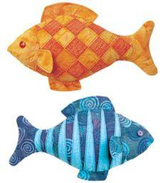 Stuffed Fish Pattern  make similar with ribbon taggies?  velcro pectoral fins?
