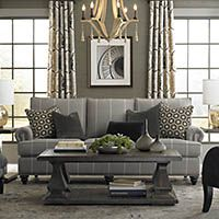 In By Bassett Furniture In Chesapeake, VA   Custom Upholstery Medium Sofa.