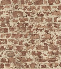 Wrought Studio Create a rustic look with this distressed brick wallpaper. Heavily textured details and its red hue create the perfect faux stone pattern. This is an un-pasted, non-woven wallpaper. Faux Brick Vinyl Wallpaper, Wood Wallpaper, Wallpaper Panels, Wallpaper Samples, Textured Wallpaper, Textured Walls, Backsplash Wallpaper, Wallpaper Ideas, Washable Wallpaper