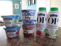 Stonyfield's Greek with Chia Pear yogurt is to die for! OP smoothies, 15g of protein!!! Yummy fuel for your body!