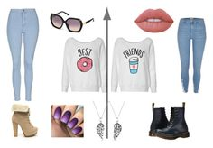 """""""Best Friends"""" by katniss-everdeen-578 ❤ liked on Polyvore featuring River Island, Roberto Cavalli, Lime Crime, Bling Jewelry, Dr. Martens and Topshop"""