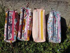 Trousses Zip-Zip colorées cousues par Jo - Patron Sacôtin