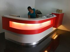 Commercial Cabinets and Commercial Counter Design Kuala Lumpur, Malaysia Office Counter Design, Cash Counter Design, Reception Counter Design, Office Reception Design, Modern Reception Desk, Office Table Design, Wood Table Design, Bar Counter, Coffee Shop Interior Design