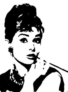 Audrey Hepburn acrylic painting on canvas 30x40cm / door MONOFACES