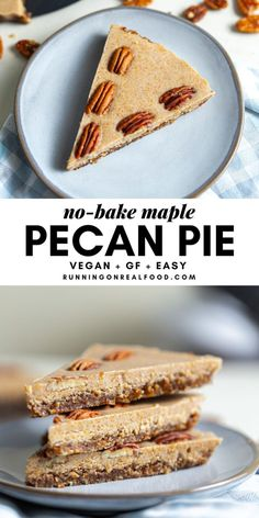 Raw Desserts, Vegan Dessert Recipes, Pie Recipes, Real Food Recipes, Vegan Sweets, Easy Sweets, Yummy Food, Healthy Recipes, Vegan Pie