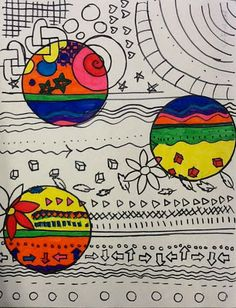 Patterned Drawings With Colored Circles - Sub Lesson