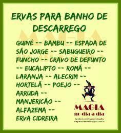 Magia no Dia a Dia: Ervas para Descarrego Wicca, Magick, Witchcraft, Witch Spell, Pagan Witch, Yemaya Orisha, Zen, Nature Witch, Baby Witch