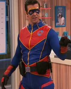 Super Hero Outfits, Super Hero Costumes, Henry Danger Costume, Ray Manchester, Capitan Man, Jace Norman Snapchat, Thunder Game, Henry Danger Jace Norman, Leather Collar