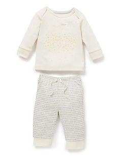 2 Piece Organic Cotton Pyjama Set | M&S