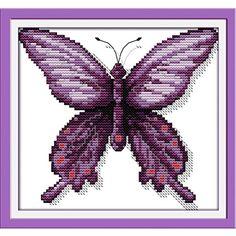 Ningmi Purple Butterfly Cross Stitch beginner partner Cross Stitch kits Animals�