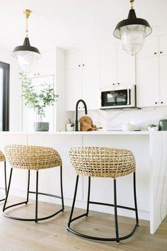 Modern boho white kitchen | Jaclyn Peters Design