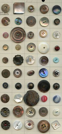 SOLD: Large lot of all kinds of buttons antique and vintage buttons 7 images