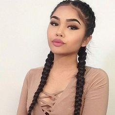 Imagem de girl, makeup, and beautiful