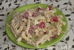Studený cestovinový šalát Pasta Salad, Potato Salad, Rice, Potatoes, Chicken, Meat, Ethnic Recipes, Food, Lasagna