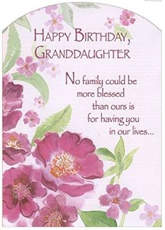 Pink Flowers with Glitter Z Fold: Granddaughter Designer Greetings Birthday Card *** To view further for this item, visit the image link. (This is an affiliate link) Birthday Verses For Cards, Birthday Card Sayings, Birthday Card Design, Birthday Quotes, Birthday Wishes For Boyfriend, Happy Birthday Brother, Birthday Gift For Wife, Birthday Board, Birthday Wishes Greetings
