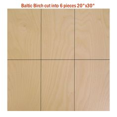 "Wow interesting source. 60""X 60""X1/2'' Baltic Birch Plywood Pack: You choose size of cuts included in $65.99 cost.  e.g. 6 pcs 20""X30"" make great wall covering, or  10 pcs 12""X30"" for shelves."