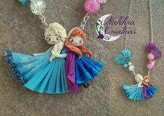 Anna and Elsa Polymer Clay by Nakihra.deviantart.com on @deviantART