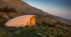Treebones is a premier Glamping resort. Glamping is defined as a luxury form of camping, blending natural experience of outdoor camping with more glamorous ame Backyard Canopy, Diy Canopy, Canopy Outdoor, Canopy Tent, Fabric Canopy, Canopy Curtains, Canopy Bedroom, Window Canopy, Outdoors