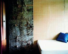 Birch bark door, Russel Wright home