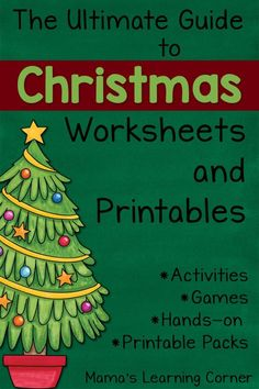 Ultimate Guide to Christmas Worksheets and Printables - TONS of links for Preschool to Upper Elementary! Free Printable Christmas Worksheets, Christmas Worksheets Kindergarten, Christmas Activities For Kids, Preschool Christmas, Free Printables, Christmas Colors, Christmas Themes, Christmas Fun, Christmas Ornaments