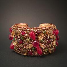 Hand Made bracelet with stones. #handmadejewerly#bracelet#citrine#redspinel