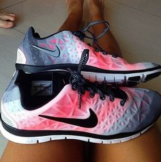 Shoes: nike pink runner nike free run laces legs toes white spots sports red black nike air nike-There are 9 tips to buy these shoes.